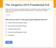 Students, we want to hear from you. Vote in our presidential poll by Tuesday, Oct. 25 and read about the results in next week's Tangerine.